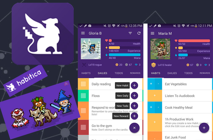 Habitica app – turn your tasks into game