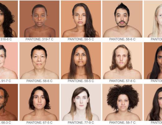 Photographer Creates a Pantone Mosaic of Skin Tones Images Taken Around the World