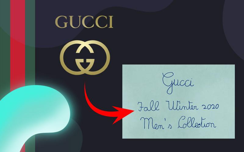 Новый логотип Gucci