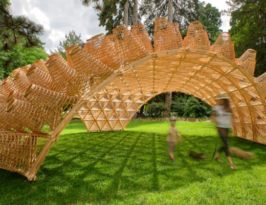 An Amazing Building Decorated with Wicker Baskets Appeared in France.