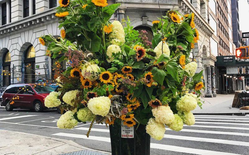 Неймовірні квіткові інсталяції в Нью-Йорку.