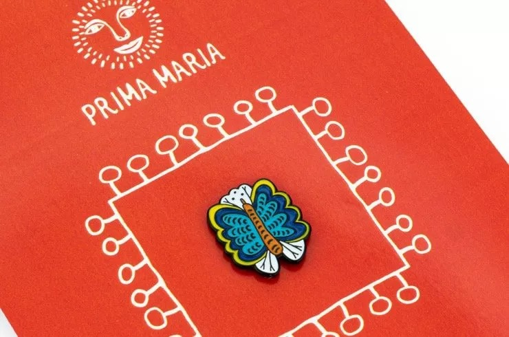 Characters of Maria Pryimachenko on Design Pins.