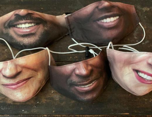 An Enterprising Designer Makes Custom Face Masks.